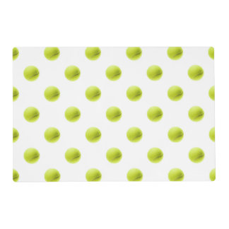 Lime Green Tennis Balls Background Ball Placemat