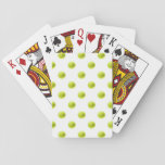 "Lime Green Tennis Balls Background Ball Playing Cards<br><div class=""desc"">Use our cool template, artwork, photo, graphic, or illustration, then add a name, text, quote, or monogram to create your own custom or monogrammed &#160;deck of cards. Click the &quot;Customize it!&quot; button to make it totally customized. These poker size card decks are great gifts for men, women, and kids (and...</div>"