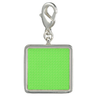 Lime Green Texture Charms