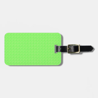 Lime Green Texture Luggage Tag