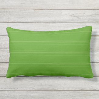 Lime Green Texture Stripe Outdoor Lumbar Pillow