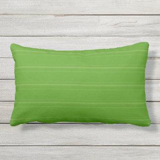 Lime Green Texture Stripe Outdoor Lumbar Pillow
