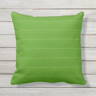 Lime Green Texture Stripe Outdoor Pillow 16x16