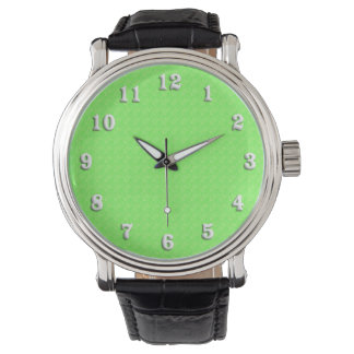 Lime Green Texture Wristwatches