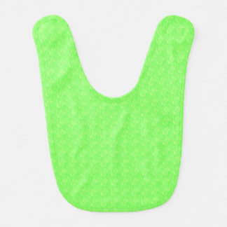 Lime Green Texture Baby Bib
