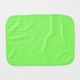 Lime Green Texture Baby Burp Cloth