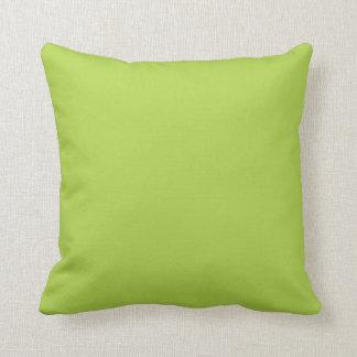 """Lime Green"" Throw Pillow"