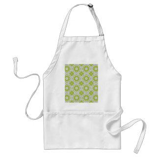 lime green tile adult apron