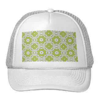 lime green tile mesh hats