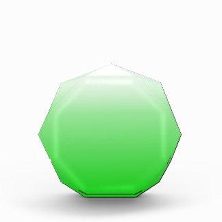 lime green to white gradient #00cc00 acrylic award