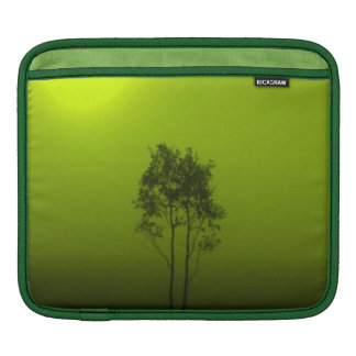 Lime Green Trees Sunrise Nature Photo Art iPad Sleeves For iPads