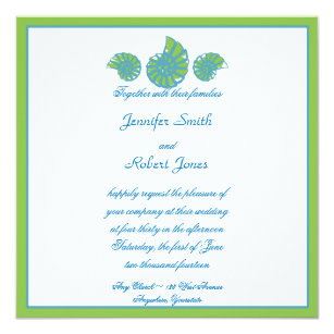 Turquoise And Lime Green Wedding Invitations | Zazzle