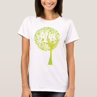 Lime Green Vector Tree w/ Bird T-Shirt