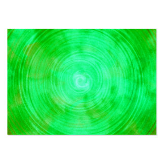Lime Green Watercolor Circle Abstract Background Business Card Template