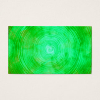 Lime Green Watercolor Circle Abstract Background Business Card