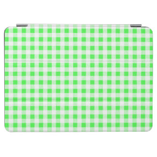 Lime Green White Gingham Pattern iPad Air Cover