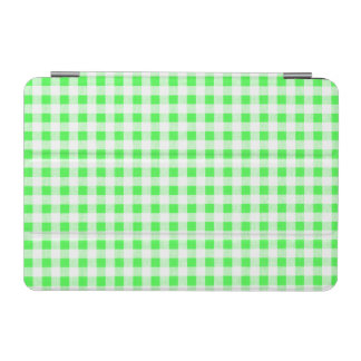 Lime Green White Gingham Pattern iPad Mini Cover