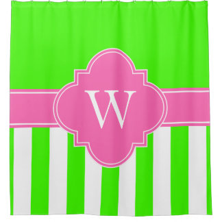 Hot Pink Green Shower Curtains Zazzle