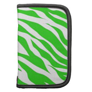 Lime Green White Zebra Stripes Wild Animal Prints Organizers