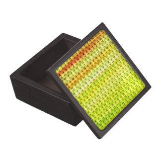 Lime green wicker art graphic design jewelry box