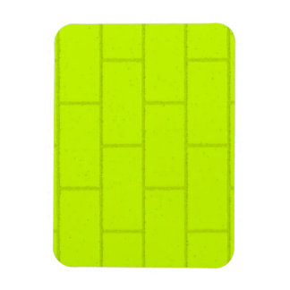 LIME GREEN YELLOW BRICKS TILES PATTERN BACKGROUNDS RECTANGLE MAGNETS