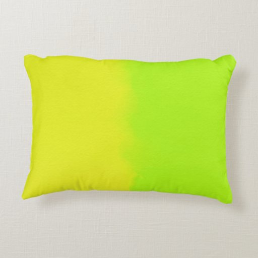 Yellow Green Decorative Pillows : Lime Green & Yellow Shaded Decorative Pillow Zazzle