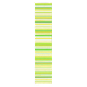 Lime Green Yellow Striped Pattern Short Table Runner
