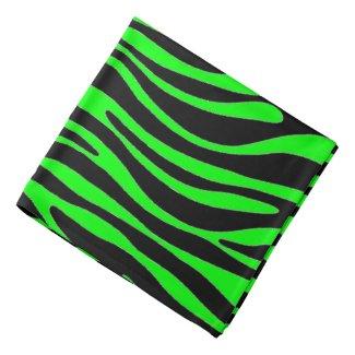 Lime Green Zebra Bandana