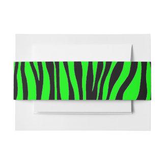 Lime Green Zebra Invitation Belly Band