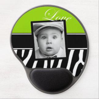 Lime Green Zebra Photo Mousepad Gel Mouse Pad