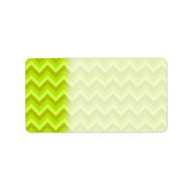 Lime Green Zig Zag Pattern. Address Label