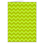 Lime Green Zig Zag Pattern. Cards