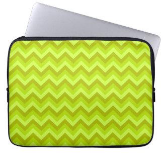 Lime Green Zig Zag Pattern. Computer Sleeve