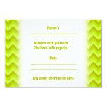 Lime Green Zig Zag Pattern. Personalized Invitation