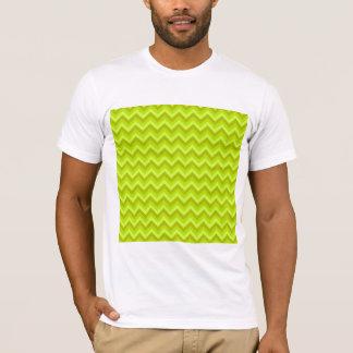 Lime Green Zig Zag Pattern. T-Shirt