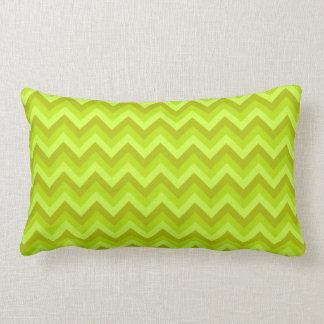 Lime Green Zig Zag Pattern. Throw Pillow