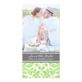 Lime Grey Save the Date Wedding Photo Cards