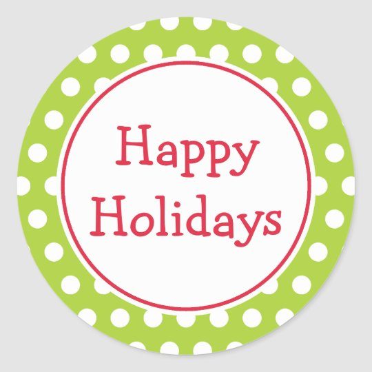 Lime Happy Holidays Stickers