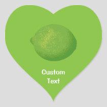 Lime Heart Sticker