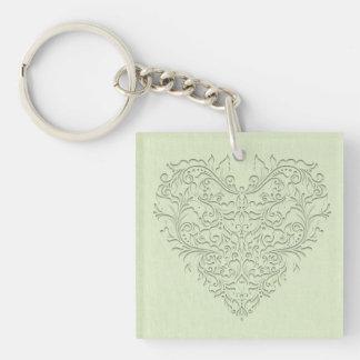 Lime HeartyChic Acrylic Key Chain