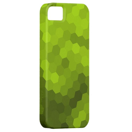 Lime hexagonal seamless graphic iPhone SE/5/5s case