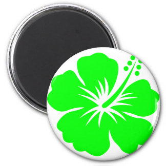Lime hibiscus flower magnet