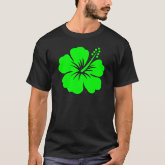 Lime hibiscus flower T-Shirt