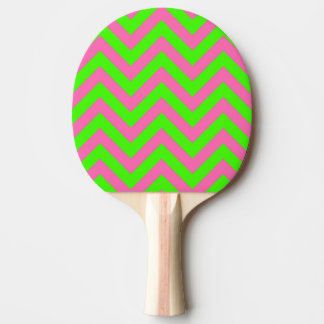 Lime, Hot Pink #2 LG Chevron ZigZag Pattern Ping Pong Paddle