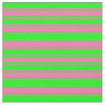 [ Thumbnail: Lime & Hot Pink Colored Pattern of Stripes Fabric ]
