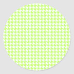 Lime Houndstooth Stickers