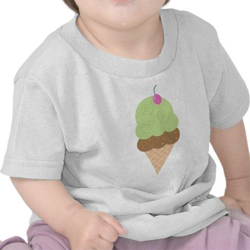 Lime Ice Cream Cone Tee Shirt