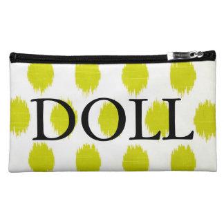 Lime Ikat Designer Cosmetic Bag