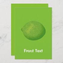 Lime Invitation
