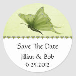 Lime Jewel Hearts Purple Butterfly Save The Date Stickers